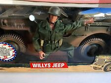 "G. I Joe Willys Jeep w/12"" WWII Action Figure .30 Caliber Machine Gun Limited Ed"
