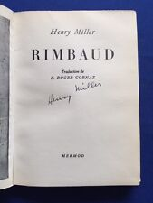 RIMBAUD - FIRST EDITION #139 OF 300 SIGNED BY HENRY MILLER