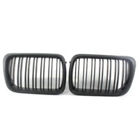 For BMW 3-Series E36 1997-1999 Matte Black Double Slat Front Racing Grille Grill