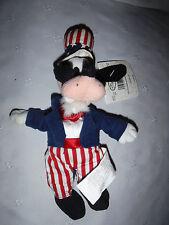"Disney Goofy Uncle Sam Bean Bag  11"" Plush Soft Toy Stuffed Animal"