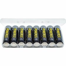 Maha PowerEx 2700 mAh AA 8 Pack Rechargeable Batteries NiMH w/Case Made in Japan
