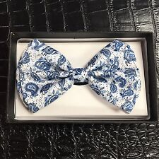 Tuxedo Unique Style Blue Germs Style Neckwear Adjustable Adult Men Bow Tie