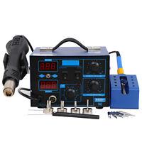 862D+ 2in1 SMD Soldering Iron Hot Air Rework Station Desoldering Repair 110V