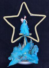 """Cake Topper ~ Princes Debutant Formal Girl Blue Flower Tinsel Star, Vintage 12"""""""
