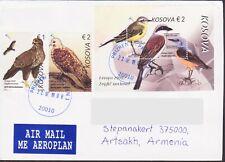 RARE KOSOVO EUROPA CEPT 2019 BIRD BIRDS COVER TO ARTSAKH KARABAKH ARMENIA R18434