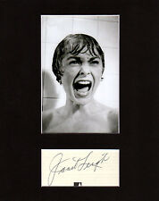 Janet Leigh Autographed Mat Piece! Psycho! Bye Bye Birdie! Hollywood Icon! Rare!
