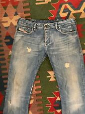 AUTHENTIC Men's DIESEL @ ZATHAN 772 Regular BOOTCUT DISTRESS Jeans 36 38 X 34