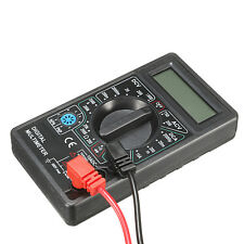 LCD DIGITAL MULTIMETER MESSGERÄT AMP VOLT OHM METER TESTER MIT MESSKABEL