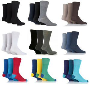 Mens Gentle Grip Soft Honeycomb Top Socks, Can be Use For Diabetic Fit Size 6-11