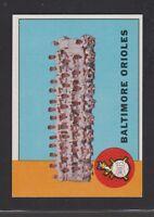 1963  TOPPS  BASEBALL # 377  BALTIMORE  ORIOLES  TC  EXMT/NM  CONDITION INV 8646