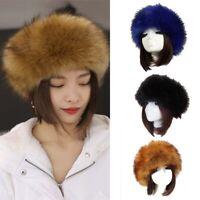 Russia Women Solid Winter Ski Winter Hat Russian Cap Furry Cap Empty Top Hat