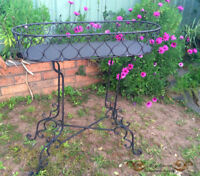 Outdoor French Provincial Style Dark Brown Metal Planter Pots Stand 80cm Height