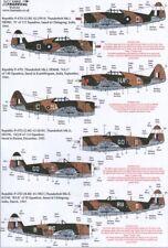 Xtradecal 1/48 P-47D Thunderbolt en RAF/Seac servicio # 48115
