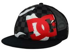 DC Shoes Lanai Checkered Trucker Mens Black Red Snapback Hat Cap NWT OSFA