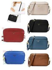 Michael Kors Women Jet Set Charm Large EW Signature Leather Clutch Crossbody Bag