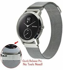 Withings Steel HR Watch Band,V-MORO Fully Magnetic Closure Clasp Mesh Loop For