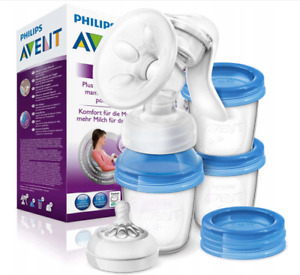 Philips Avent Manual Breast Milk Pump Feeding Bottle BPA Free 180ml Containers