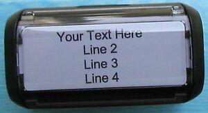 Return Address Self-Inking Rubber Stamper - Customize up to 4 lines of text
