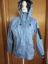 Women's hooded  blue/black rain jacket by Mountain Hard Wear size 6