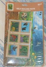 New Hallmark USPS 2001 The Great Plains Prairie Self Mailing Note 6 Cards Seals