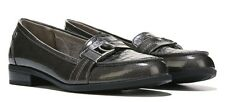 Life Stride Kiss loafer flats grey croco patent soft system sz 6 Med NEW