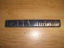 Emblem Heckklappe Badge Trunk Lancia Delta Turbodiesel turbo ds