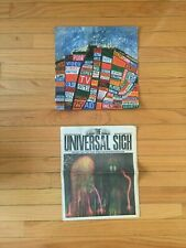 Radiohead Hail To The Thief Poster + The Universal Sigh King of Limbs Newspaper