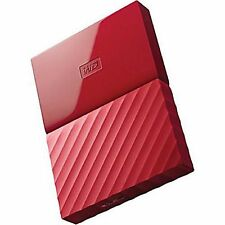 NEW Western Digital 1 TB My Passport Ultra Portable External Hard Drive- RED
