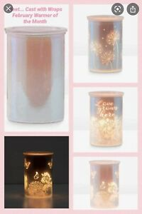SCENTSY CAST PINK WITH SPRING PACK ~ 3 Wraps Included Iridescent Wax Warmer