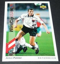 POLSTER LOGRONES ÖSTERREICH FOOTBALL CARD UPPER DECK USA 94 PANINI 1994 WM94