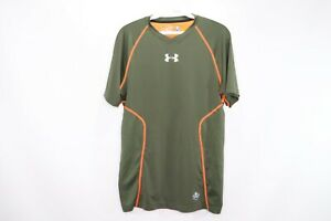 Under Armour Mens Small NFL Combine Fitted Vented HeatGear Athletic Shirt Green