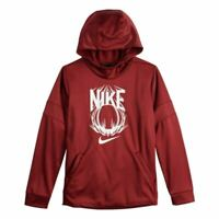 NWT Boys 8-20 Nike Baseball DriFIT Therma Training Pullover Hoodie Team Red Wh