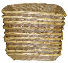 10 x Wicker Basket Trays Bread Fruit Gift Hamper Shop Display - 36cm