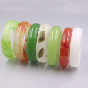 1PCS Fine Agate Chalcedony Color Spotted Bangle For Women Bracelet 58-62mm Gift