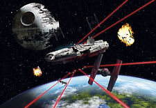 Star Wars Wall Mural photo Wallpaper 368x254cm Millennium Falcon NO ADHESIVE