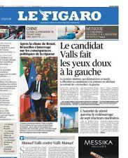 Le Figaro 06.12.2016 N°22495*PS//VALLS*RENZI chute*TRUMP-TAÏWAN*MERKEL*CHÔMAGE