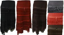 Casual Polyester Maxi Skirts Plus Size for Women