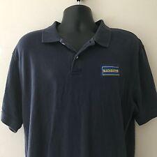 Blockbuster Video Polo Shirt XL Blue Employee Uniform S/S Embroidered Logo VTG