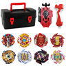 Lot of 8pcs Beyblade Burst Booster Tops with Launcher Grip +Storage Box Set Gift