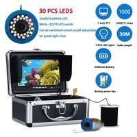 "7""30M 1000TVL Fish Finder Underwater Fishing Camera 15pcs White LED+15pcs IR LED"