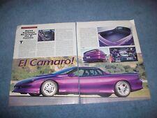"""1994 Chevy Camaro Custom Vintage Article """"El Camaro!"""" El Camino"""
