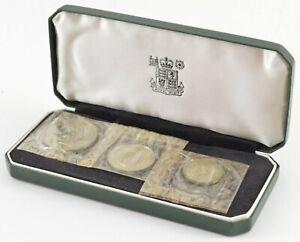 1964 Zambia Cased 3 Coin Set - Royal Mint - Display Box *633