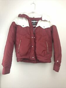 Vintage Alpine Designs Youth 12 Quilted Goose Down Puffer Jacket Zip Up USA Made