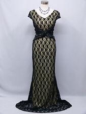Vestido De Fiesta cherlone Negro Boda Noche Formal Dama de honor vestido de longitud completa 16