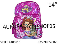 """Sofia the First 14"""" Medium Backpack Bag Pink Newest Style-9165"""