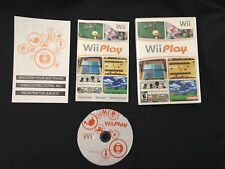 Wii Play (Nintendo Wii, 2007) PREOWNED COMPLETE VIDEO GAME FREE SHIPPING SPORTS