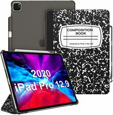 For iPad Pro 4th Generation 12.9 inch 2020/2018 Front Case Hard Back Cover Stand