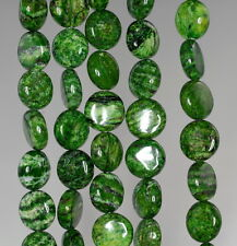 10MM GREEN SCHILLER SHEEN SPAR GEMSTONE FLAT ROUND CIRCLE LOOSE BEADS 8""