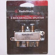 4-Way 75-Ohm Satellite Splitter with DC Pass Through ~ RadioShack 16-2570