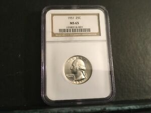 1951 Washington Quarter NGC MS65